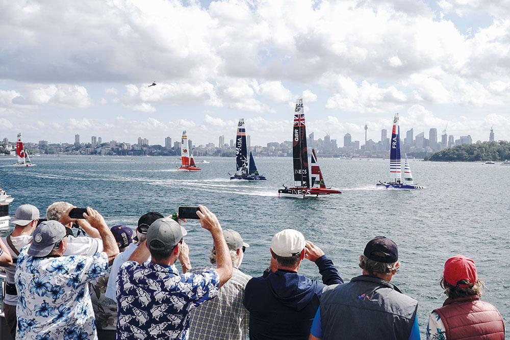 Sydney SailGP back in February. Image: Thomas Lovelock for SailGP